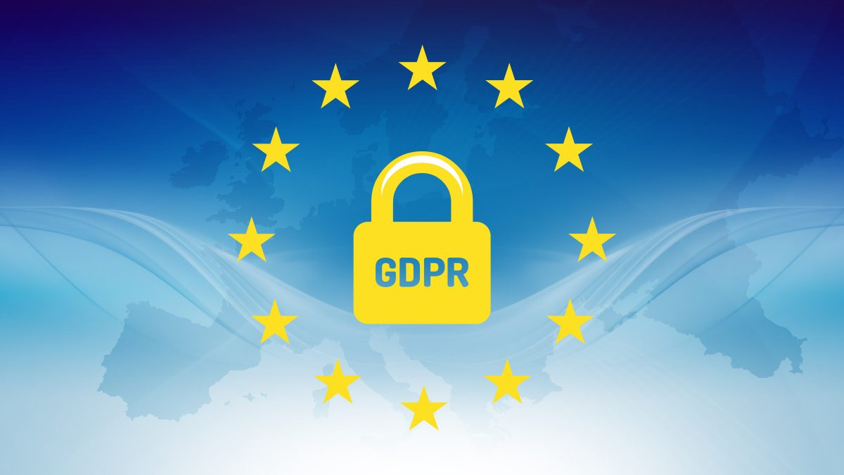 GDPR padlock and yellow stars